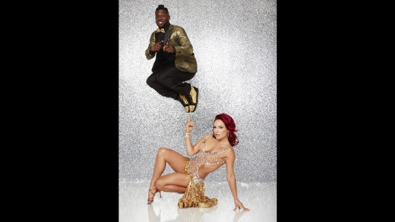 Pittsburgh Steelers wide receiver Antonio Brown, who was paired with pro dancer Sharna Burgess, brought his quick feet to the dance floor as a celebrity contestant. They were eliminated in the semifinals.