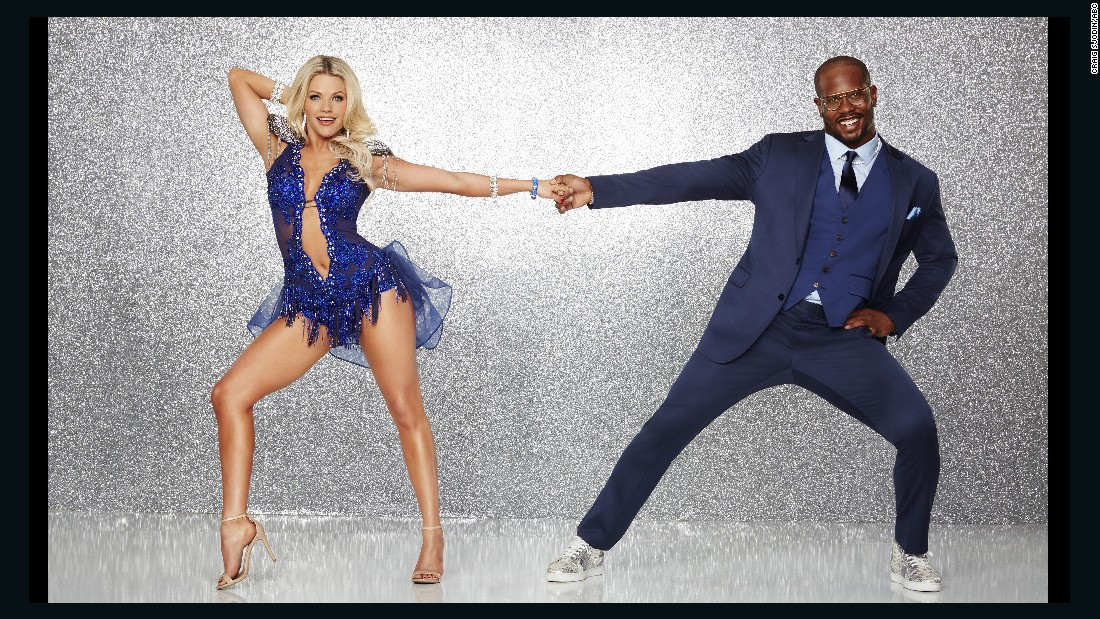 Super Bowl 50 MVP Von Miller of the Denver Broncos, who is known for his dance moves in the end zone, was paired with professional dancer Witney Carson. The pair were eliminated in week 7.