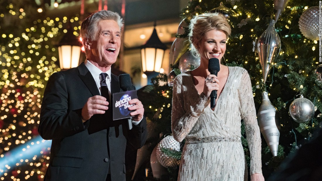 The reality dance show is hosted by Tom Bergeron and Erin Andrews.
