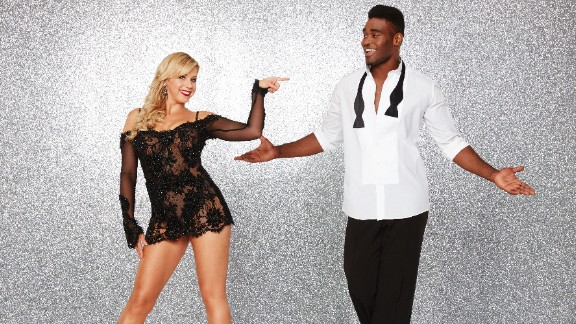 """Actress Jodie Sweetin, a veteran of """"Full House"""" and co-star of """"Fuller House,"""" was the first celebrity competitor announced for the current season. She was paired with pro dancer Keo Motsepe. They were eliminated in week 8."""