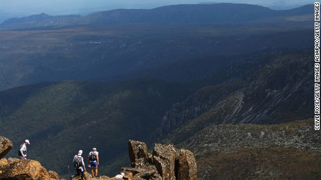 Spectacular Cradle Mountain is part of the Tasmanian Wilderness World Heritage Area.