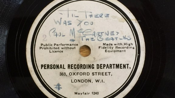 This rare Beatles record has sold at auction for $110,000.