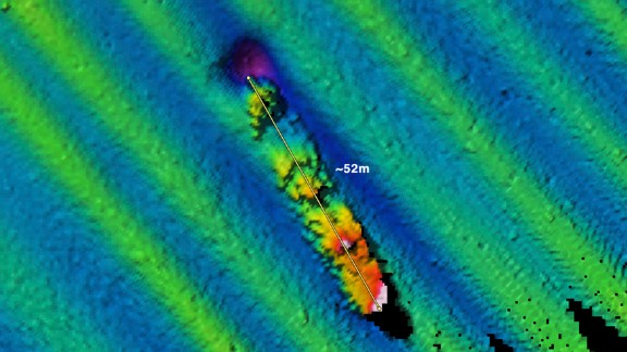 In September 2009, a NOAA/Fugro multibeam sonar survey of the area around Farallon Islands documented a probable shipwreck with an estimated length of 170 ft at a depth of 185 ft.