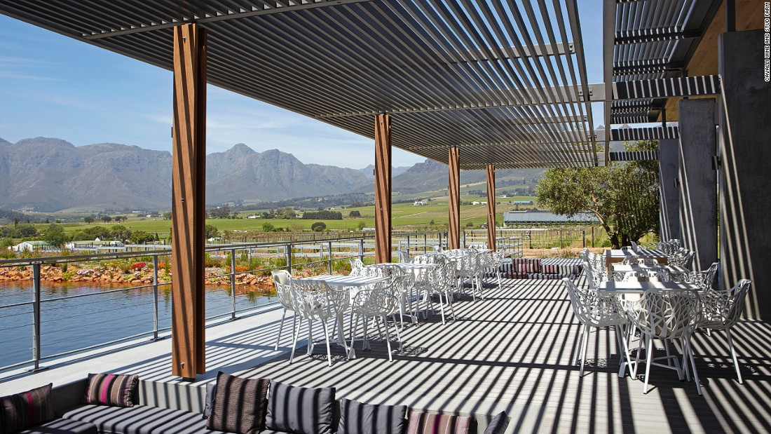 Stunning views of the Helderberg mountains can be enjoyed on the terrace.