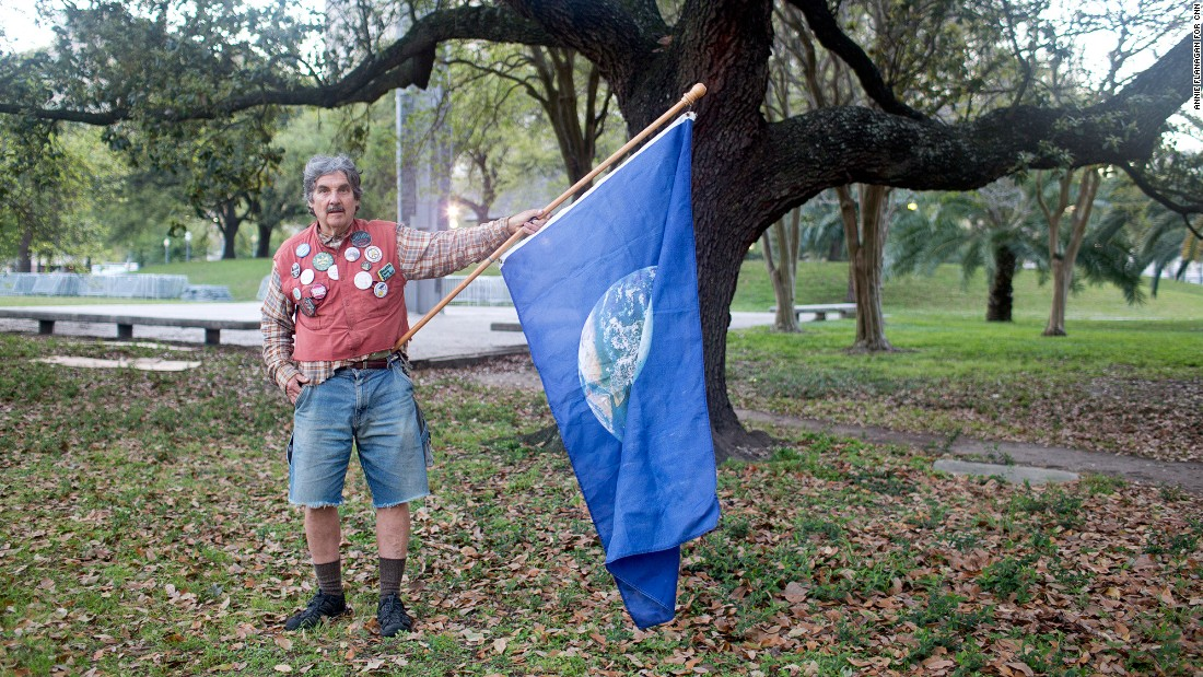 "Bernard ""Ben"" Gordon, 66, of New Orleans was among the activists who protested the auction. Environmentalists are calling for the federal government to keep fossil fuel resources beneath the ground. Mining and burning them contributes to climate change."