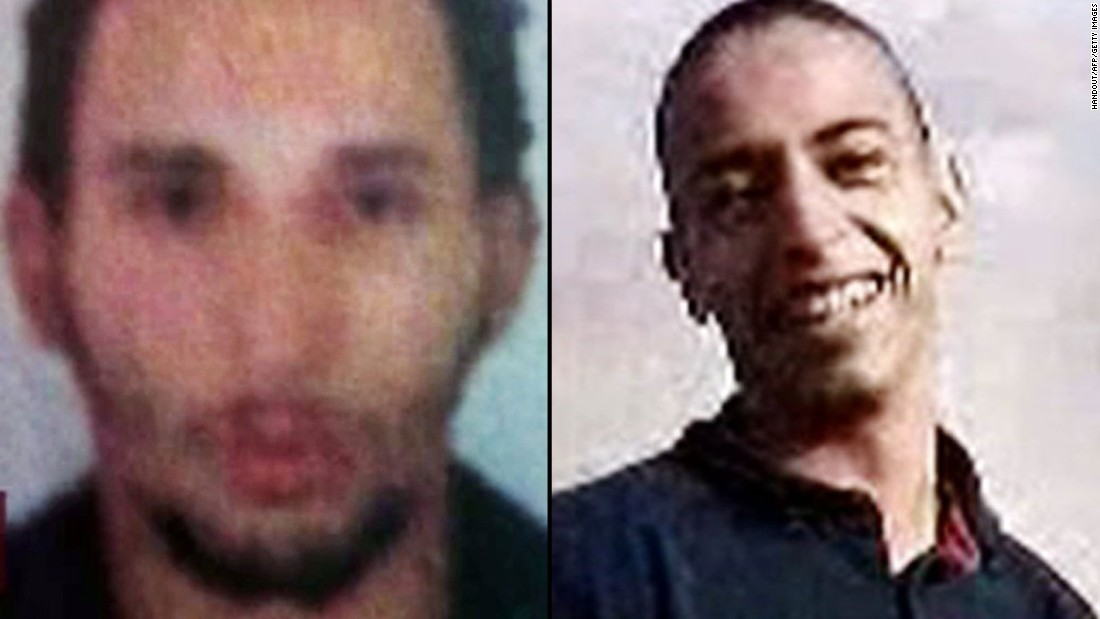 "Mohammed Merah, right, <a href=""http://www.cnn.com/2012/03/26/world/europe/france-shooting-suspect/"" target=""_blank"">fatally shot seven people</a> in and around Toulouse, France, in March 2012. He was killed in a shootout with police. Prosecutors said Mohamed's brother Abdelkader, left, helped plan the crimes; Abdelkader is now serving a prison sentence."