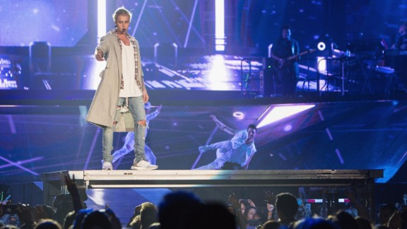 """<strong>23. Sold out shows during the """"Purpose World Tour""""</strong>: From March 2016 to July 2017 the singer toured the world, to the delight of his fans, in support of his """"Purpose"""" album. But some fans were devastated when he <a href=""""https://www.cnn.com/2017/08/03/entertainment/justin-bieber-letter/index.html"""" target=""""_blank"""">canceled the final 14 tour dates, saying he wanted his career to be """"sustainable."""" </a>"""
