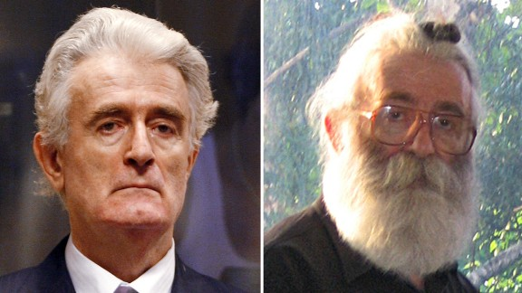 Radovan Karadzic used a disguise of a beard and glasses while in hiding.