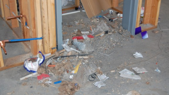 Once the site was cleared, cleanup crews were allowed in to start sifting through the mess.