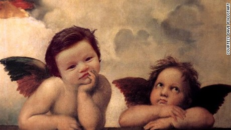 Reddit user davepollotart made the baby into a cherub.