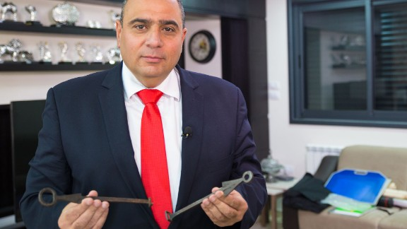 Adeeb Joudeh holds the keys to Church of the Holy Sepulchre.