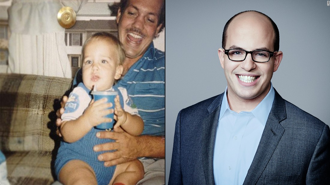 "Even as a baby, Brian Stelter always had his watchful eyes on trending media. Here, he reviews cartoons while perched on dad's knee. Years later, Stelter hosts ""Reliable Sources,"" keeping CNN viewers up to date on all things happening in the world of journalism and beyond."