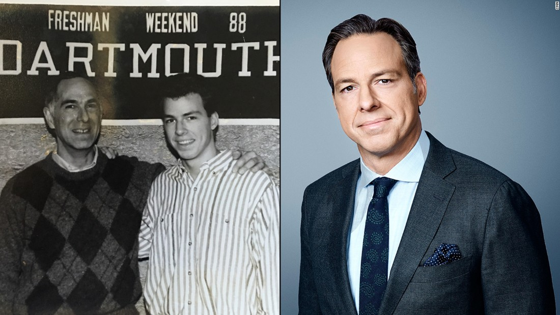 "Even as a youthful college freshman, Jake Tapper has always personified poise and presence. Here, with his dad on the campus of Dartmouth, the future host of ""The Lead"" appears ready for a big future."