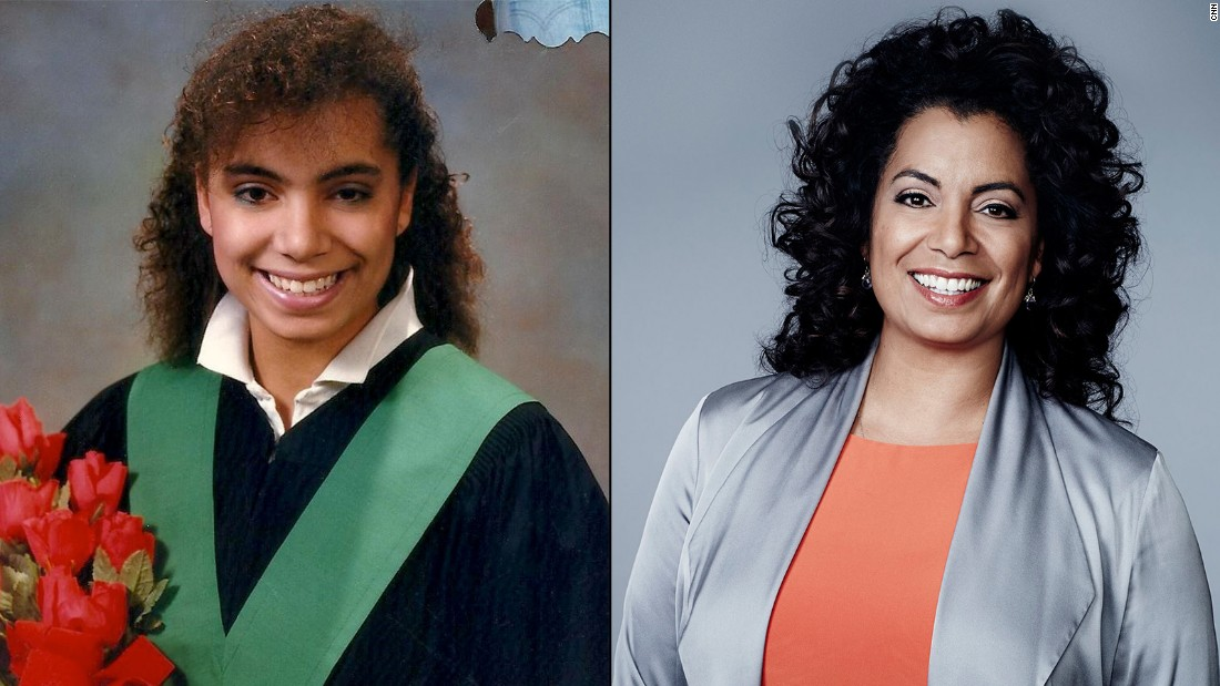 """Wide-eyed and excited for the future,"" Michaela Pereira said about her high-school graduation photo in 1988."
