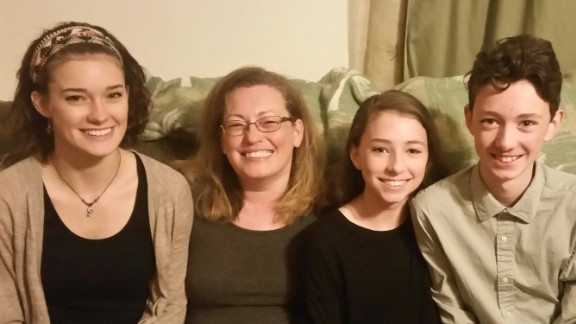 Rhonda Woods with her three children, Savannah, 21, Sierra, 14 and Connor, 14