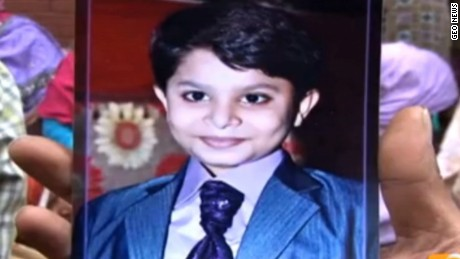 Aman John, 13, was killed in the suicide attack at the Lahore park.
