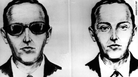 "BREAK REPORTED IN D. B. COOPER HIJACKING CASE - An artist made these sketches of the skyjkacker known as Dan Cooper from the recollections of the passengers and crew of an Northwest Airlines jet he hijacked between Portland and Seattle on Thanksgiving eve in 1971. ""Cooper"" later parachuted from the plane with $200,000 of ransom money. The FBI said it has found about $4,000  in the 1971 Cooper hijacking. (AP-Photo/pc)"