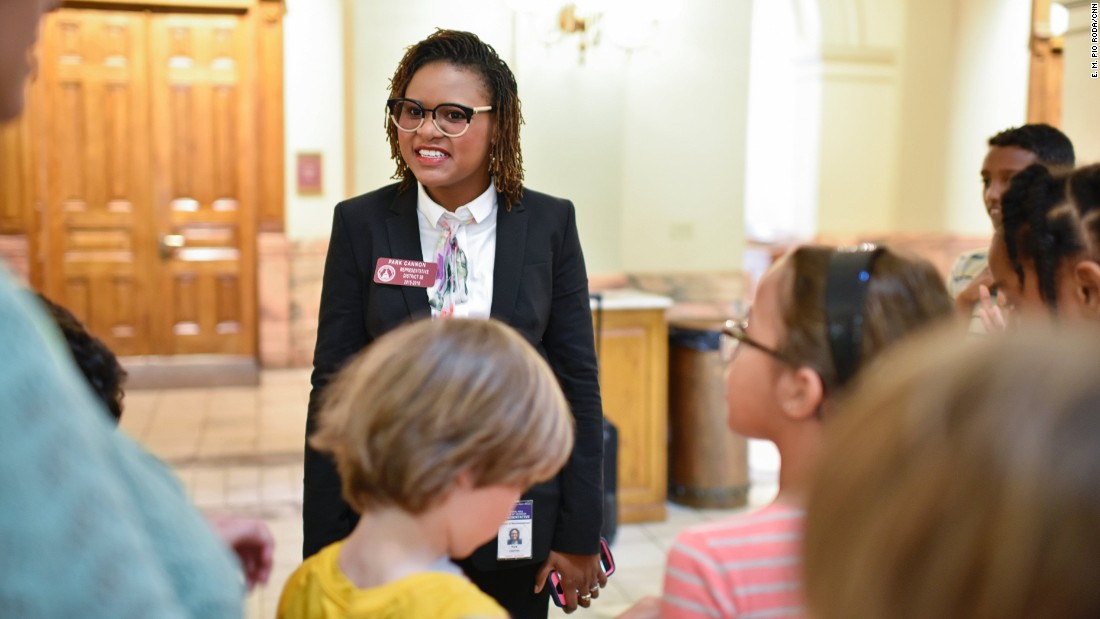 Cannon occasionally meets visitors in the Georgia Capitol by chance. On March 17, it was a group of elementary school students.