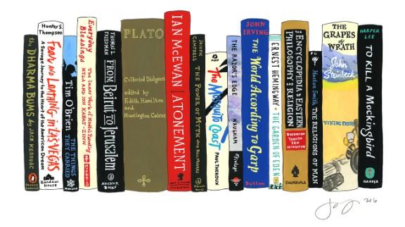 David Allan's ideal bookshelf