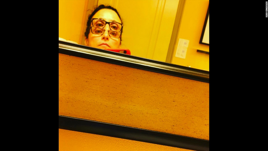 """Sight for 4 eyes,"" joked actress Julia Louis-Dreyfus in this selfie <a href=""https://www.instagram.com/p/BDF6blwOxv9/"" target=""_blank"">she posted to Instagram</a> on Friday, March 18."