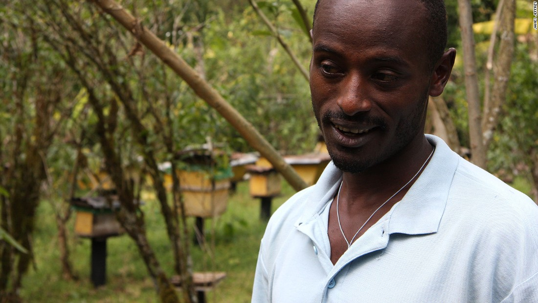 """I would never move to the city and leave this behind,"" says local beekeeper Mirutse Habtemariam."