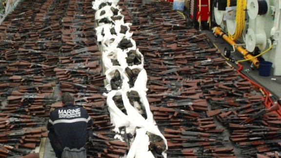 This is the third such weapons seizure since September, said Cmdr. Kevin Stephens, a spokesman for U.S. 5th Fleet.