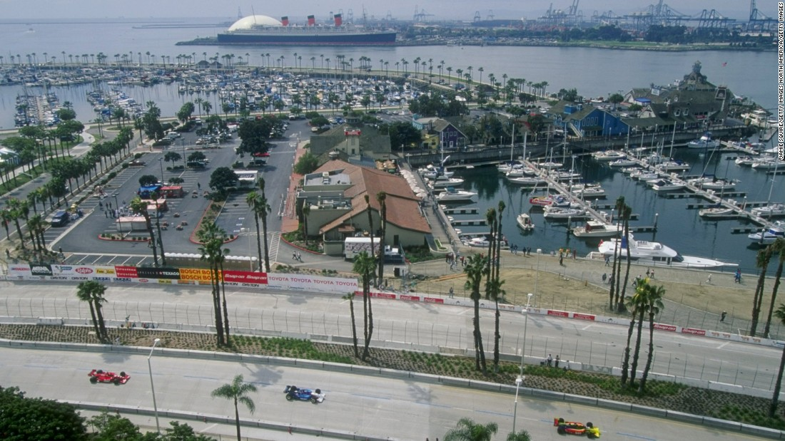 "Cars have been cruising along Long Beach's racetrack since 1975. It's the oldest street circuit on the map in the United States. ""It's become a true classic,"" says American racing legend Mario Andretti. This photo shows the IndyCar Long Beach Grand Prix from 1998."