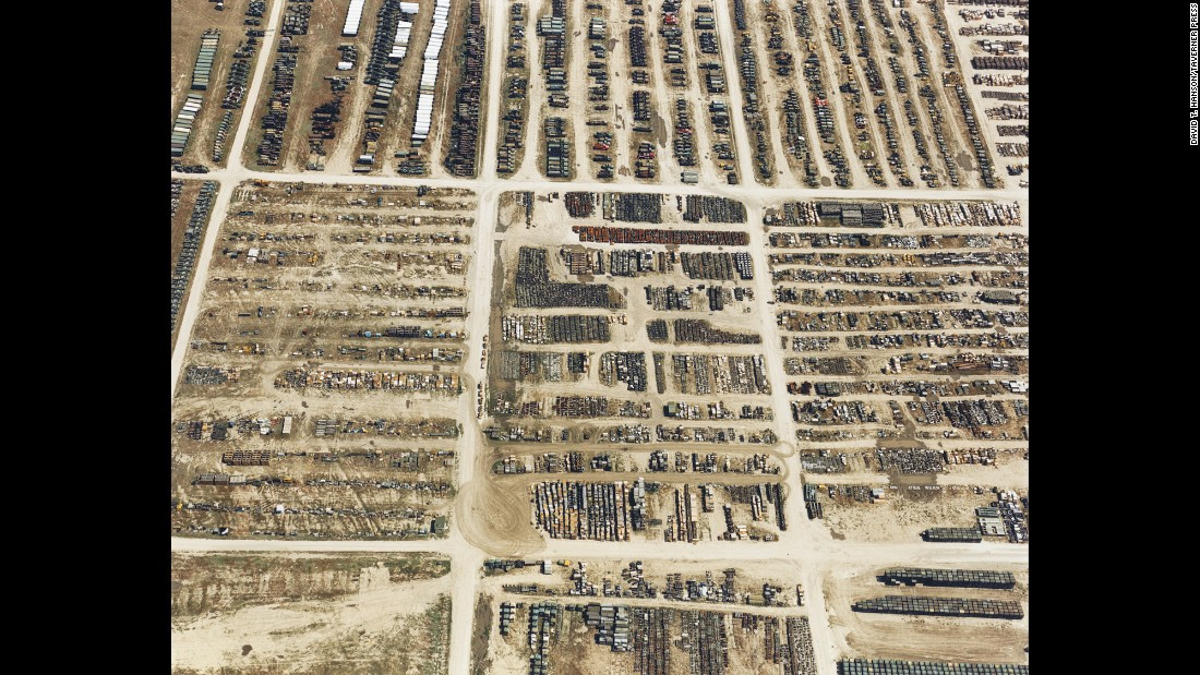 "The Superfund site at the Tooele Army Depot, in Tooele, Utah, is photographed in 1986.<a href=""https://cumulis.epa.gov/supercpad/cursites/csitinfo.cfm?id=0800755"" target=""_blank""> According to the EPA,</a> ""site operations, ammunition storage and equipment repair contaminated the soil and groundwater with hazardous chemicals."""
