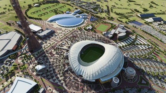 "The Khalifa International Stadium ""will fit 40,000 spectators and be completely cooled, including the field of play, all seats and concourses,"" soccer"