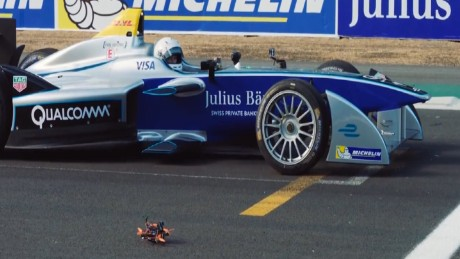 Formula E car vs. drone - who wins this race?