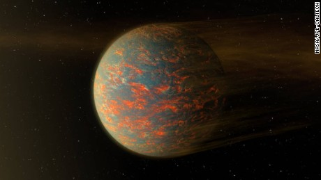 NASA illustration of possible scenario for the hot exoplanet called 55 Cancri e.