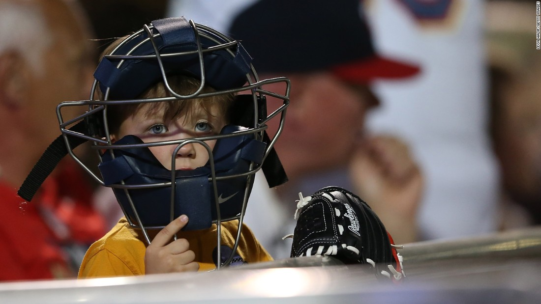A young Minnesota Twins fan watches the action during a game in Fort Myers, Florida, on March 16.