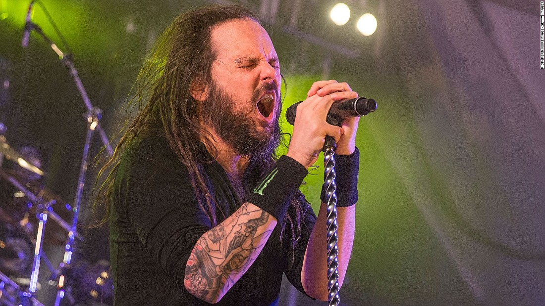 Jonathan Davis and other members of his heavy metal band Korn sport dreadlock styles. Davis has been cultivating his dreads for years.