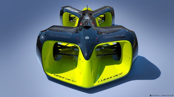 "The planned ""Roborace"" series is scheduled to be contested during Formula E championship weekends. Organizers have commissioned Daniel Simon -- famous for his work on movies like ""Tron: Legacy"" -- to design the race car."