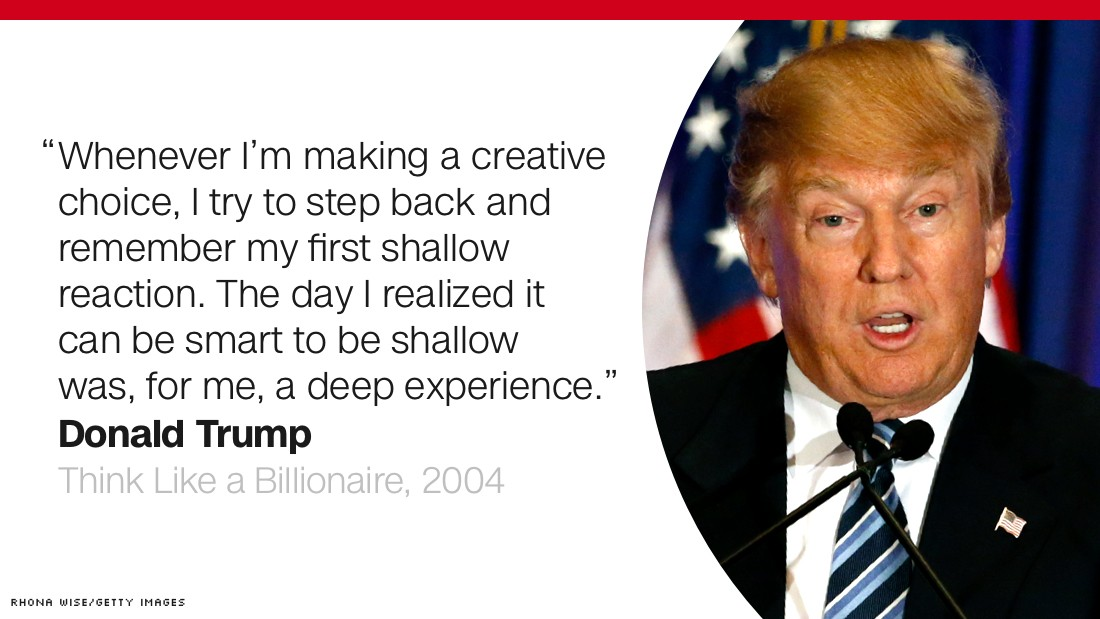 The Art Of The Deal Quotes Stunning Donald Trump How He Sees Himself  Cnnpolitics
