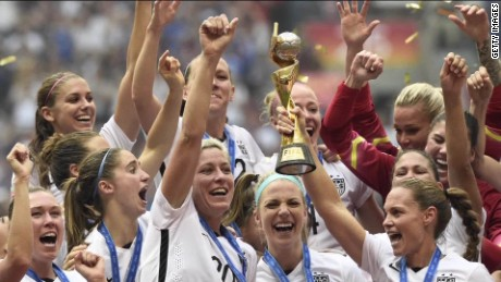 U.S. women's soccer stars demand equal pay
