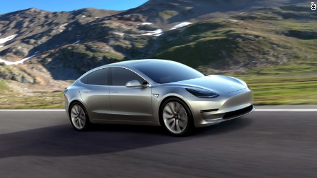 This Undated Photo Provided By Tesla Motors Shows The Model 3 Car Promise Of