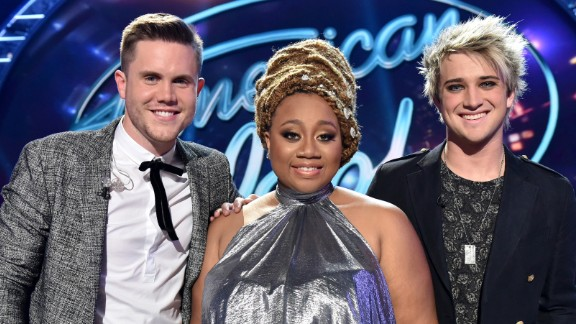 AMERICAN IDOL: Top 3 Revealed: L-R: Contestants Trent Harmon, La