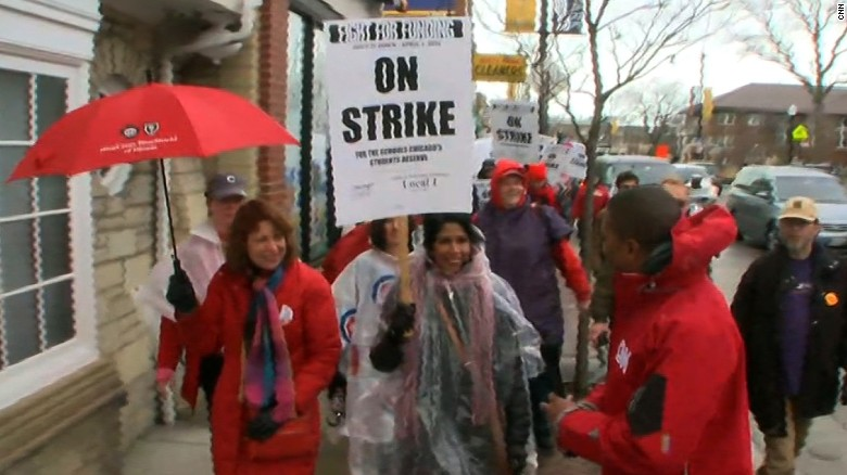 Chicago teachers strike over budget, new contract
