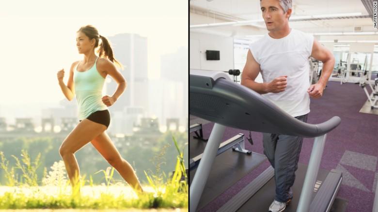 Rough teen sex treadmill