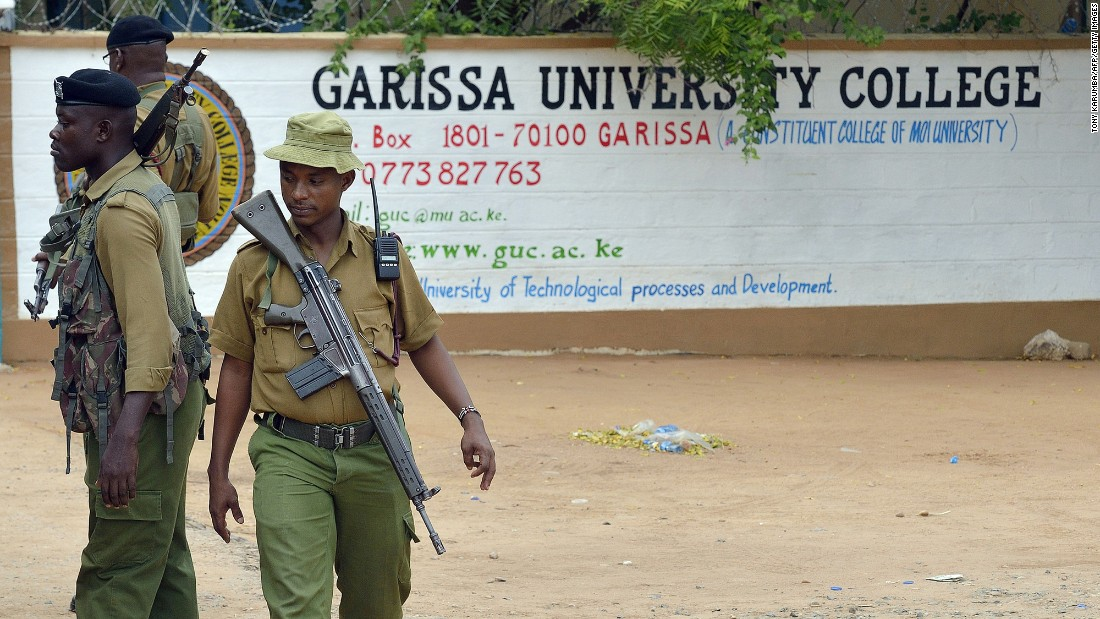 "Armed security officers in Garissa, Kenya, stand guard at the entrance of Garissa University College on Monday, January 11, <a href=""http://edition.cnn.com/2016/01/11/africa/garissa-university-reopens-al-shabbab/index.html"" target=""_blank"">after it reopened</a> under heavy security.  On April 2, 2015, more than 140 people were slain by Al-Shabaab gunmen."