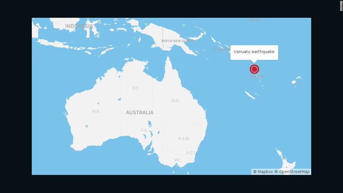 Where Is Vanuatu Located On A World Map.Vanuatu Earthquake Temblor Hits Island Nation Cnn