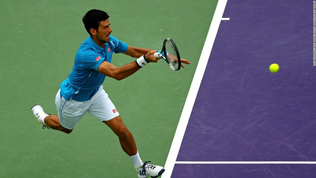 In picking up the tournament's $1.02 million prize check, Djokovic became the all-time leading money winner in tennis.