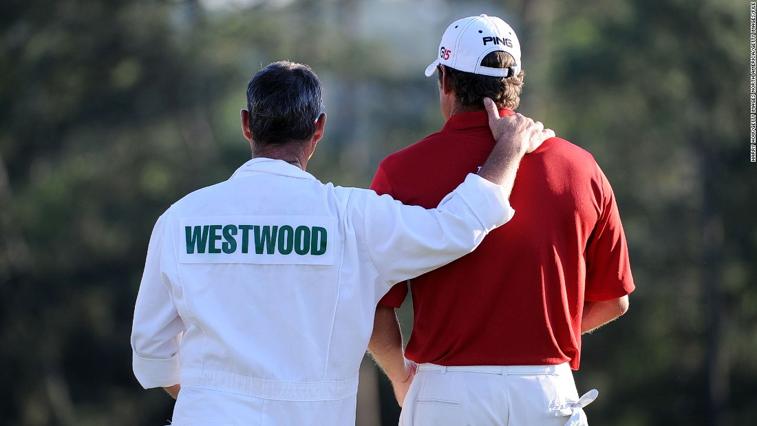 A caddie's helping hand is essential if golfers want to win the coveted Masters green jacket.