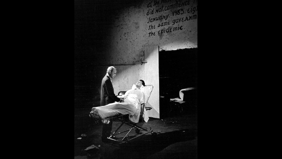 """Actors Rex Fuller and Phil Luna in a 1987 production of """"The Normal Heart."""""""