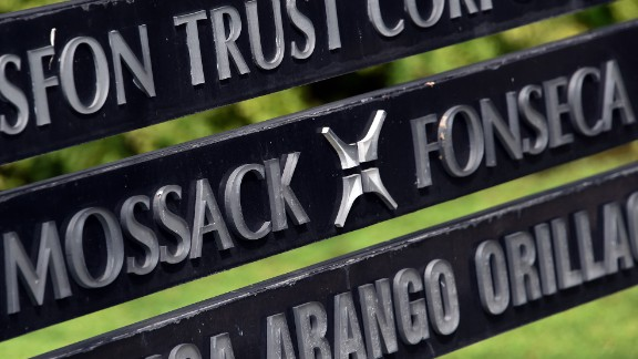 A sign outside the building where the Panama-based Mossack Fonseca law firm offices are located in Panama City, Panama.