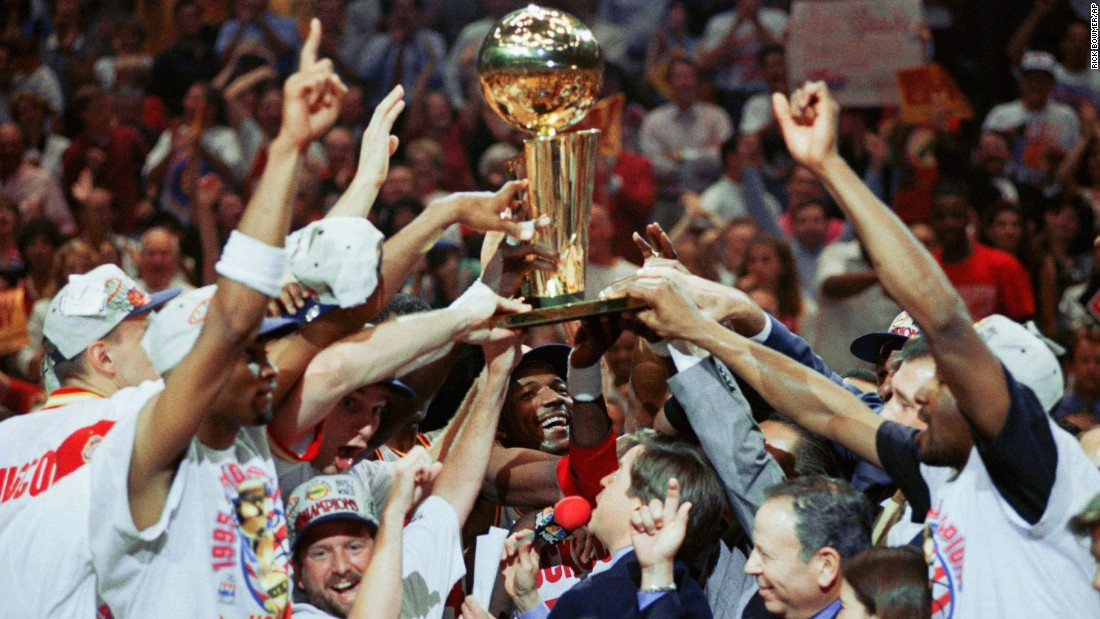 <strong>Lowest-seeded team to win it all:</strong> The 1995 Houston Rockets -- led by future Hall of Famers Clyde Drexler and Hakeem Olajuwon -- were the Western Conference's sixth seed when they went on to win the title. The Rockets also won the championship in 1994.