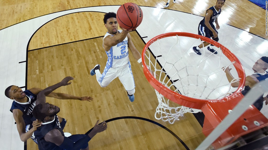 North Carolina guard Joel Berry II drives the lane.