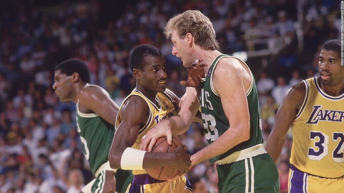 <strong>Most common matchup in the NBA Finals:</strong> The Boston Celtics and the Los Angeles Lakers have played each other 12 times in the Finals. The Celtics won the first eight meetings, but the Lakers broke the streak in 1985 and 1987, pictured here. The teams also split a pair of Finals in the 21st century. While the Celtics have a league-best 17 titles, the Lakers are right behind them with 16. The Chicago Bulls are the next closest at six.