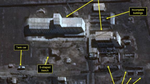 Construction of new facility near the uranium enrichment complex continues.
